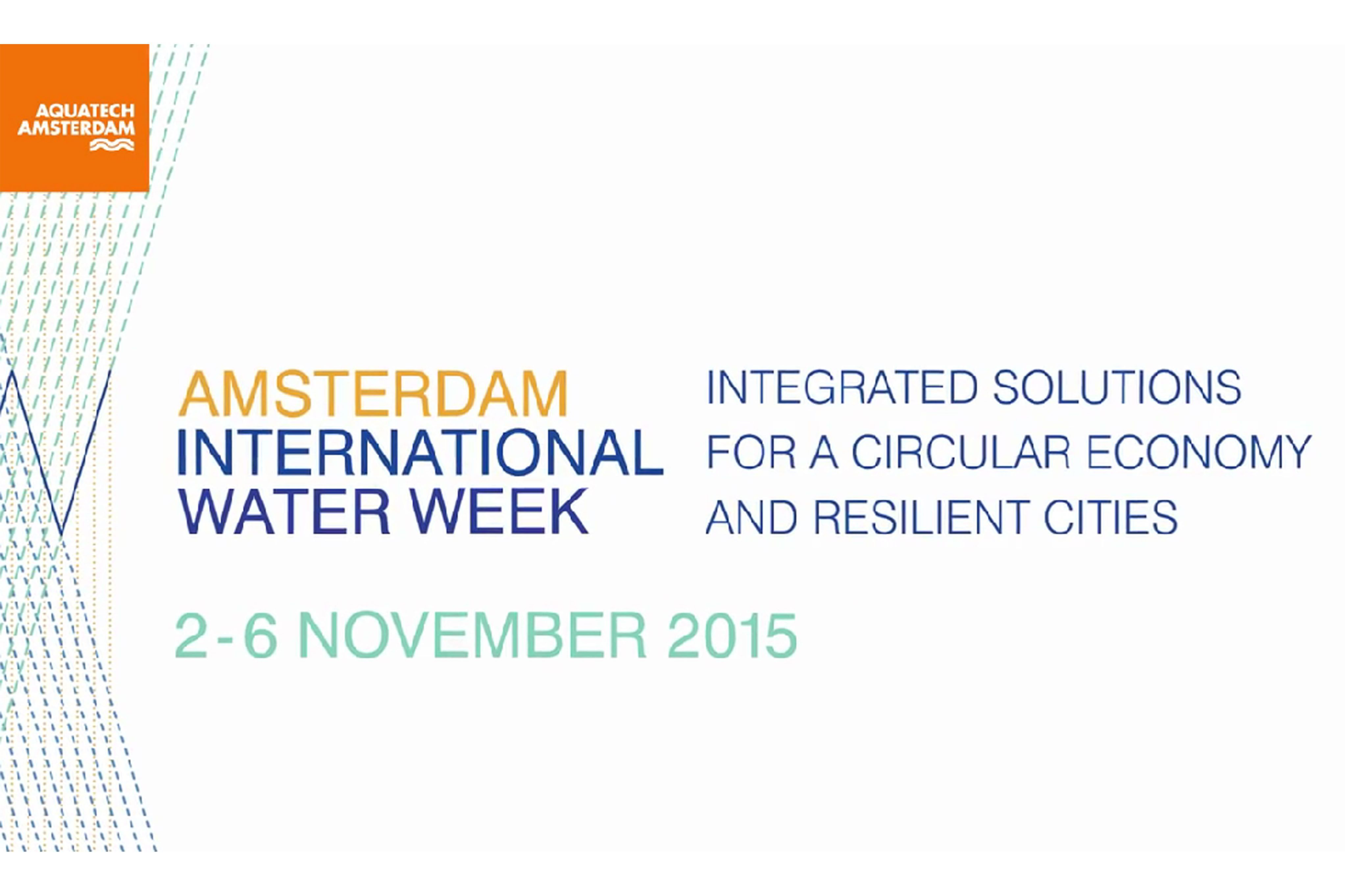 IWW AMSTERDAM INTERNATIONAL WATER WEEK 2015