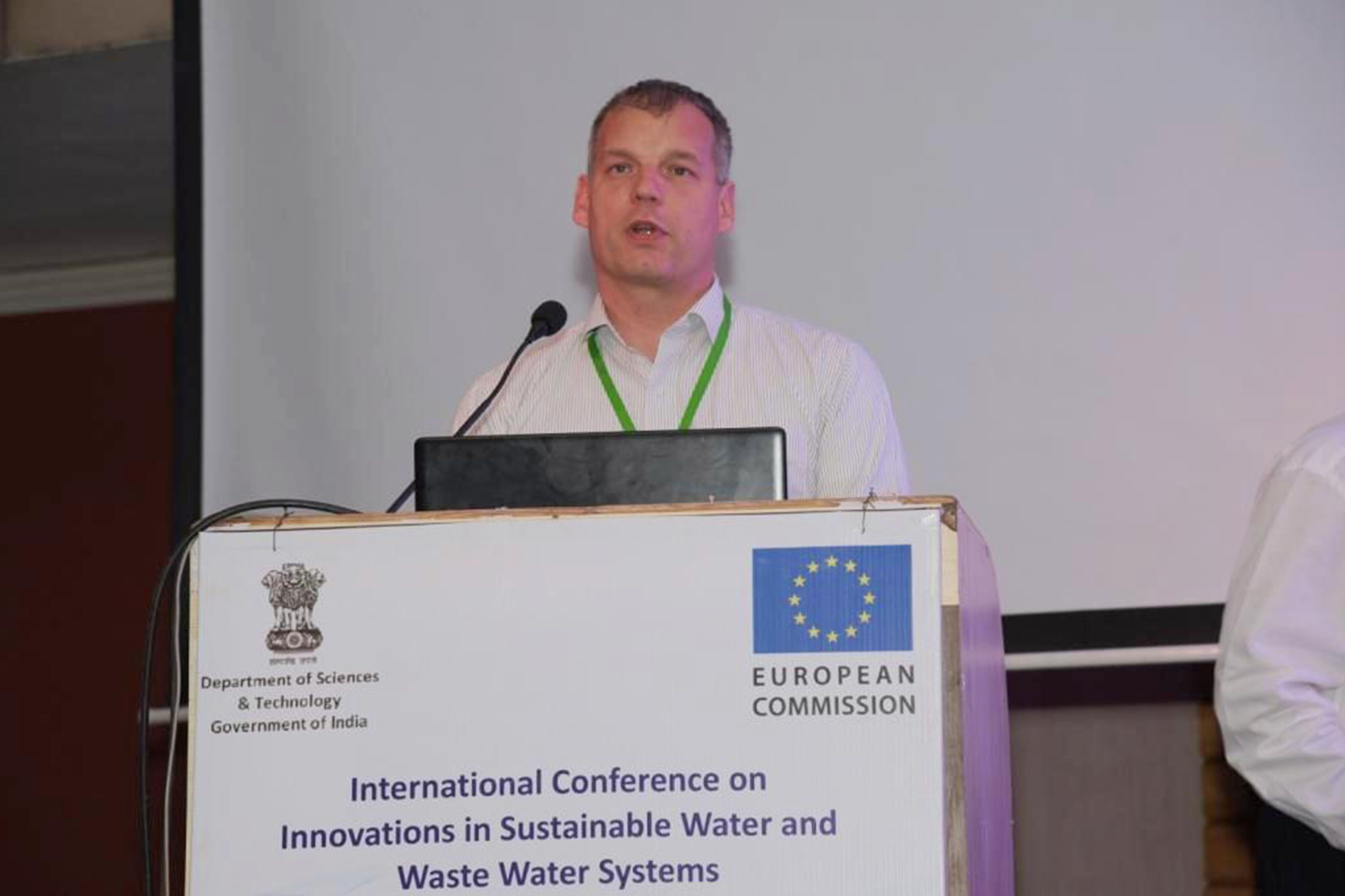 Mirko Haenel, ISWATS 2016 (International conference on innovations in sustainable water and waste water systems. NaWaTech project