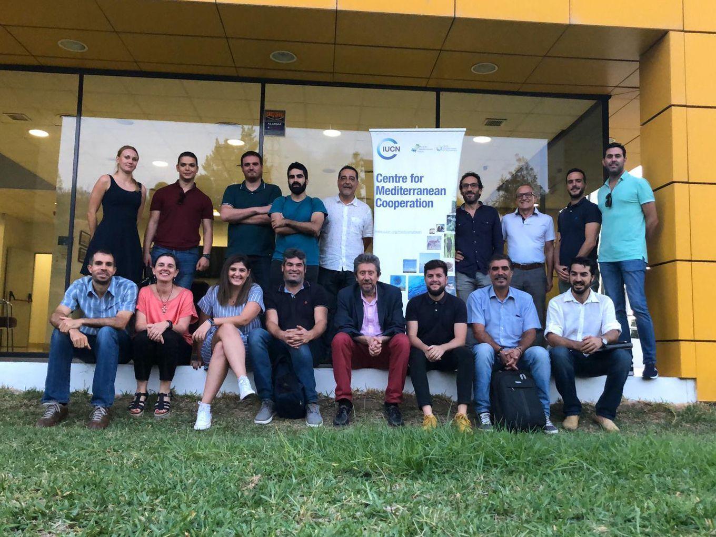 Miembros del clúster SBN en la sede de IUCN en Málaga