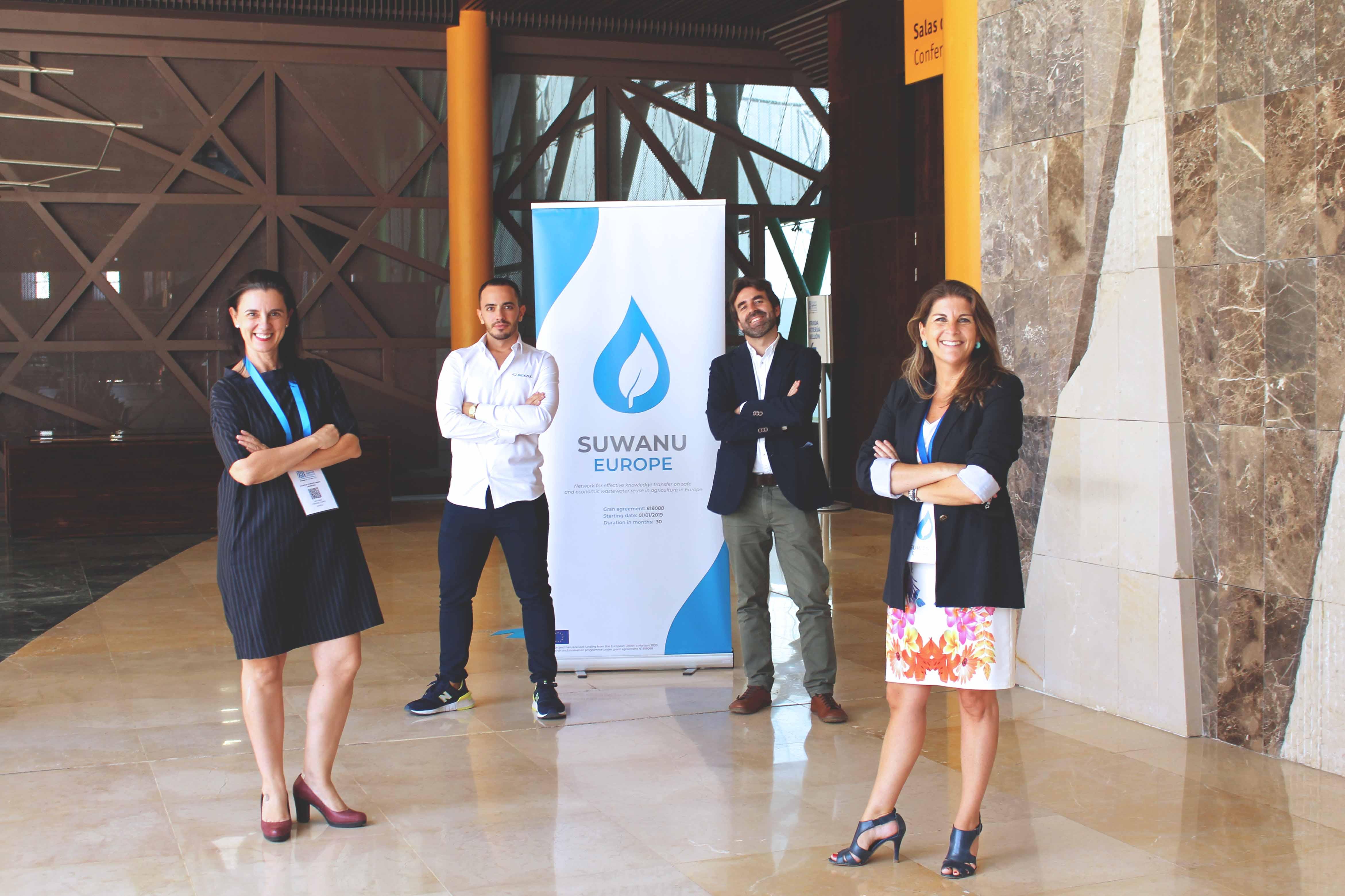 Equipo de Bioazul: Antonia Lorenzo, David Salaberri, Rafael Casielles y Ángela Magno