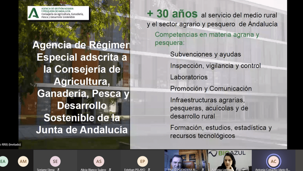 Presentation of Mº Antonia Cobacho (AGAPA)